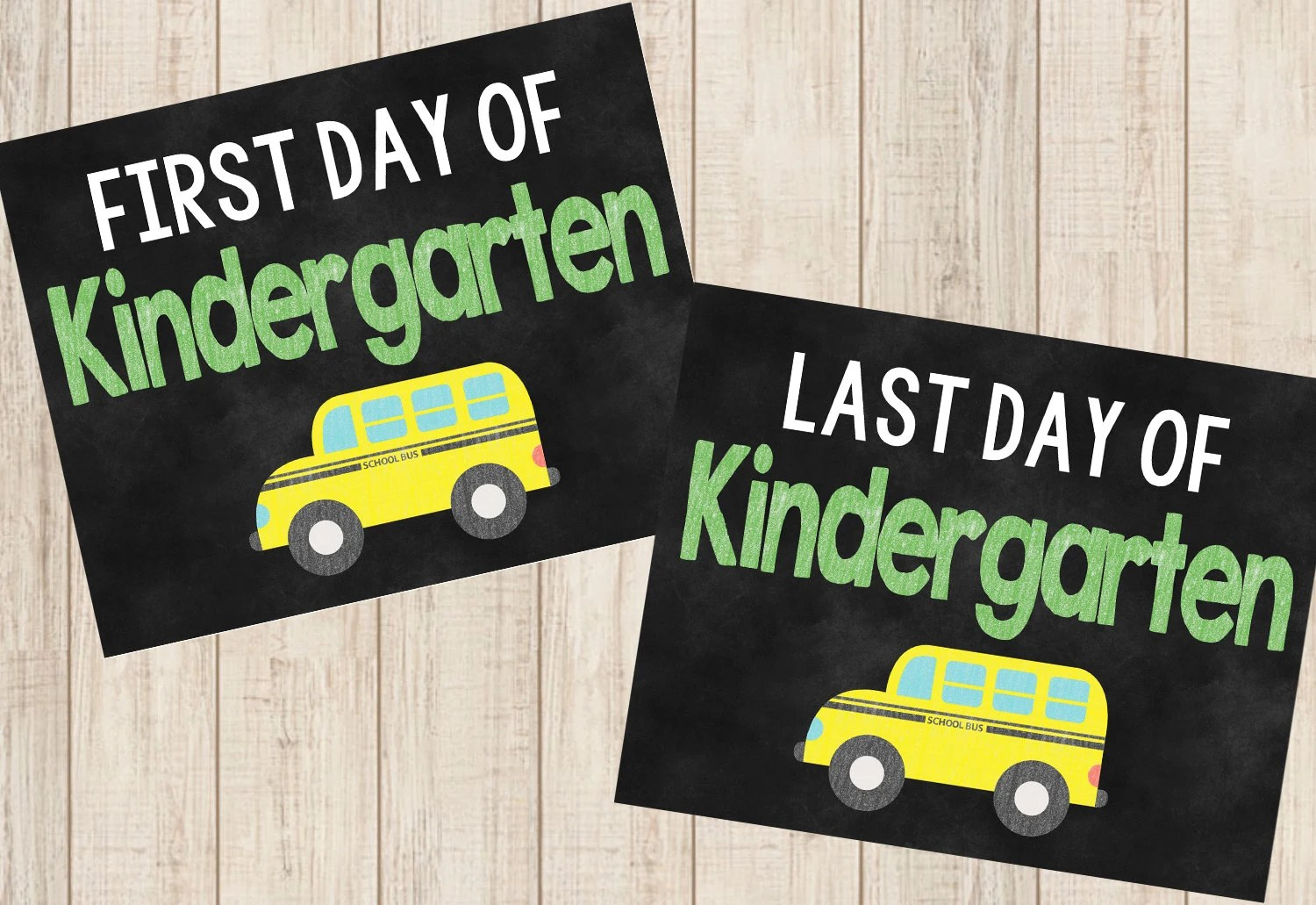 First And Last Day Of Kindergarten Printable By Amddesigns1