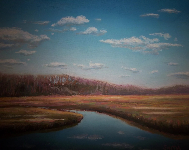 pastel of Ipswich river - HalloranArt