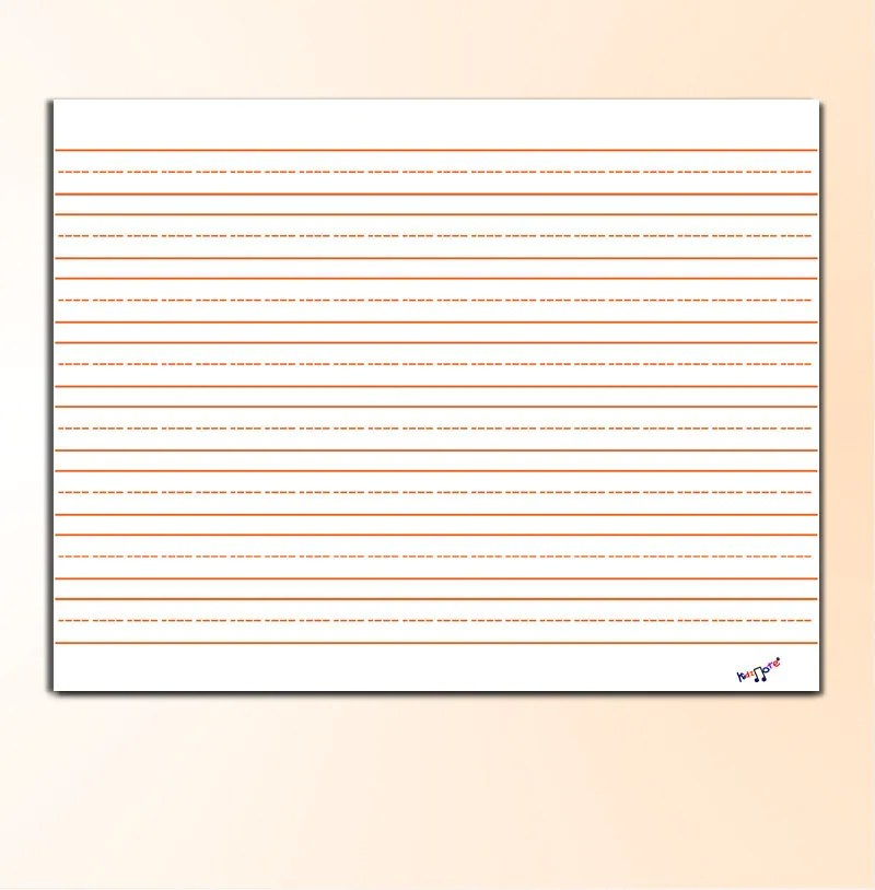 Kindergarten Lined Paper Template best photos of printable – Free Printable Lined Writing Paper