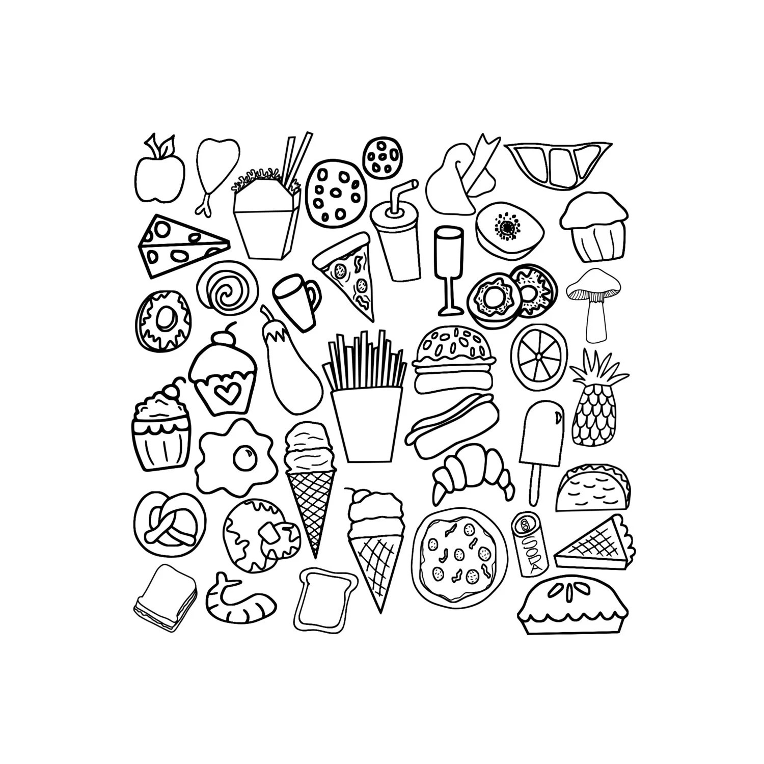 40 Food Clipart Doodles Fast Food Clip Art Chinese Food