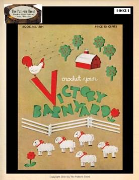 Vintage Crochet Stuffed Toy Patterns Make Cuddly Victory Barn Yard Farm Animial Toys Lamb Chick Goat Pig Sheep Horse Cow Duck Boy Girl Dolls
