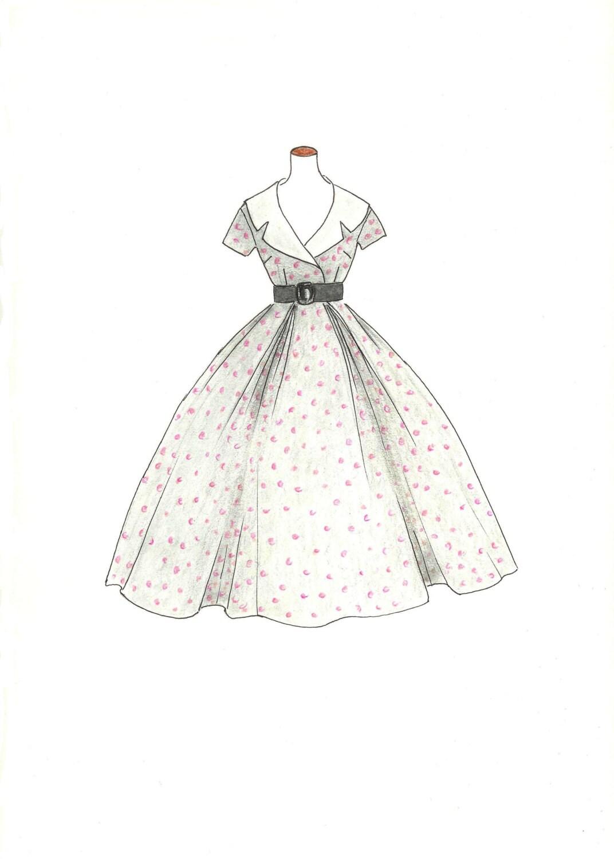 displaying 19 gt images for vintage fashion sketches dresses