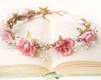 popular items for babys breath crown on etsy