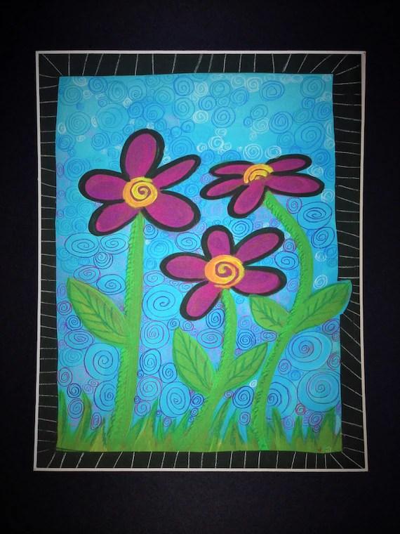 Swirl Flower 8X10 Matted Print