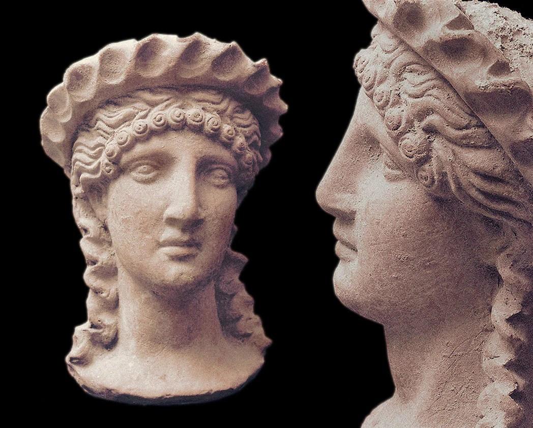 Portrait Bust Of Hera The Greek Goddess A Classic S
