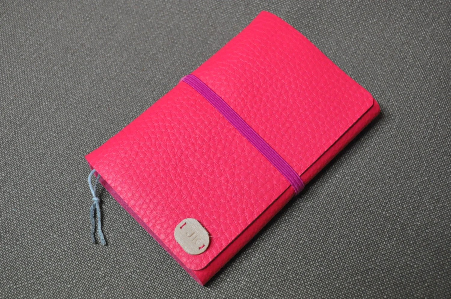 Personalized Pink Leather Journal or note - monogrammed pink journal - personalized diary - pink diary - pink journal - pink sketchbook - MJKMADE