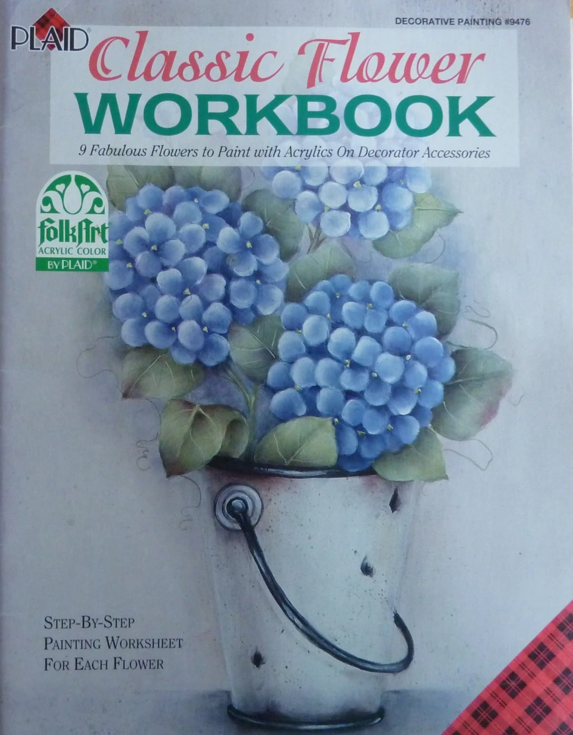 Plaid Classic Flower Workbook Tole Painting Book