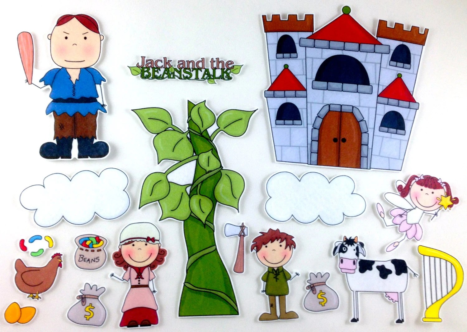 Jack And The Beanstalk Felt Board Story Set By Bymaree On Etsy