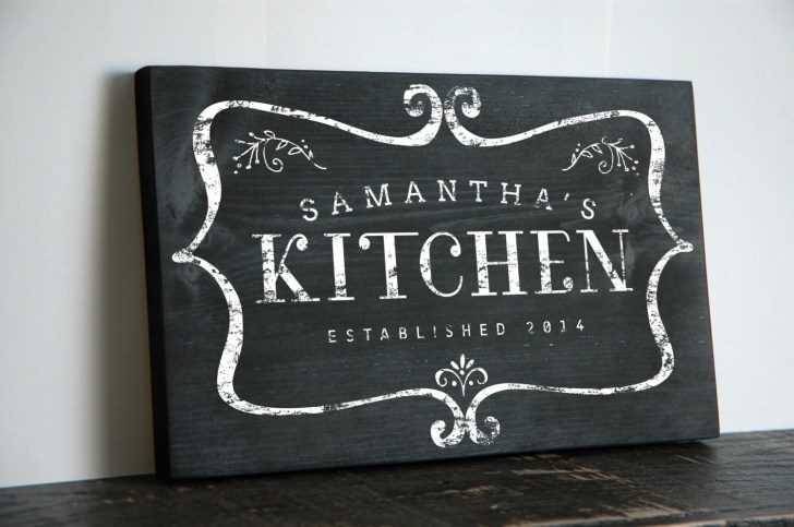 Custom Chalkboard Style Kitchen Sign Jetmakdesigns