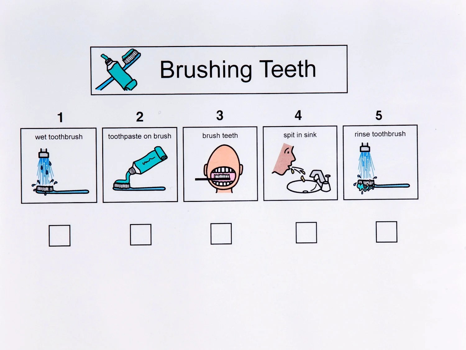 Brushing Teeth Sequence Sheet