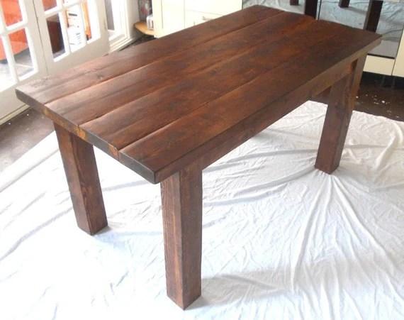 Rustic Planche Cuisine Manger Table En Bois Massif Teint