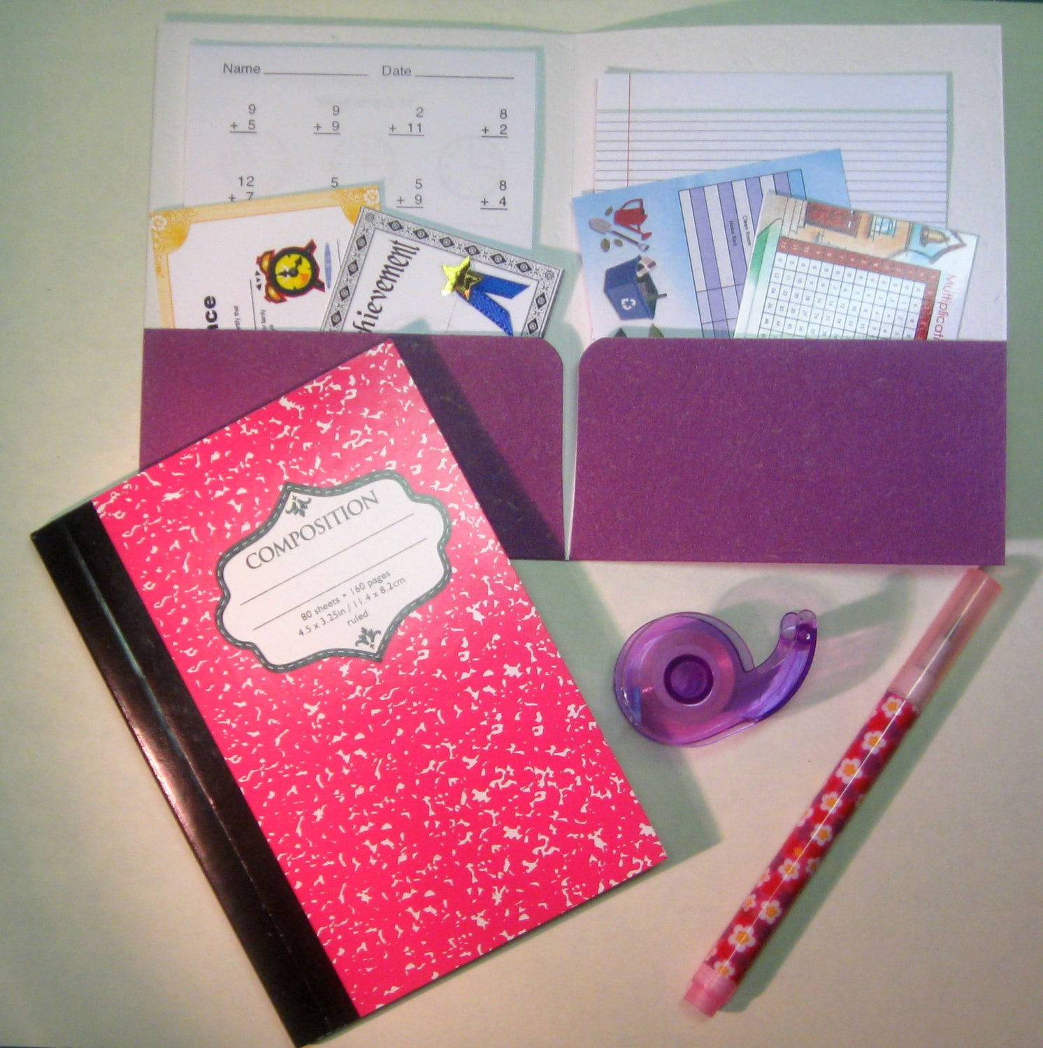 American Girl Doll Mini School Supply By Pocketparchment