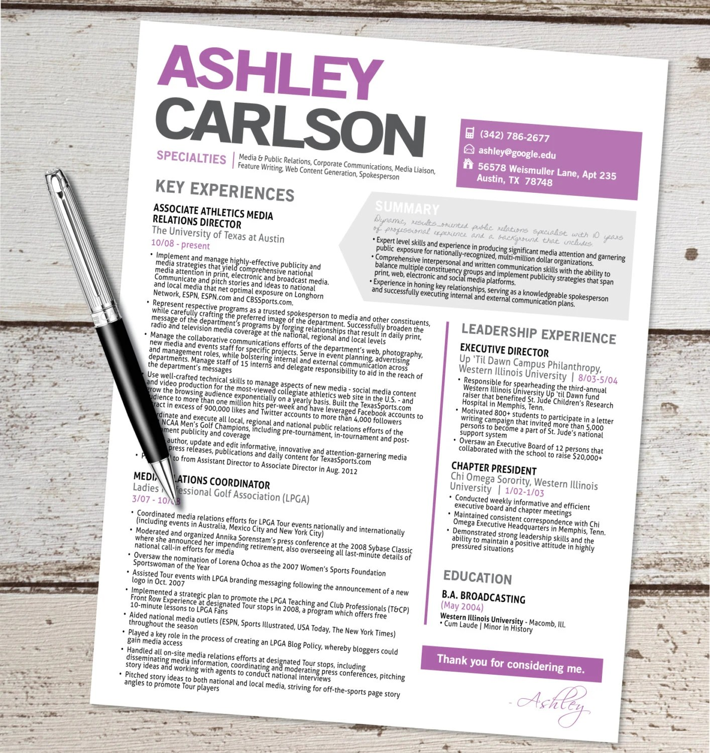 the ashley design graphic design by vivifycreative