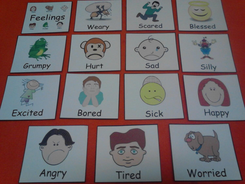 Feelings Felt Board Pieces Emotions Preschool Learning
