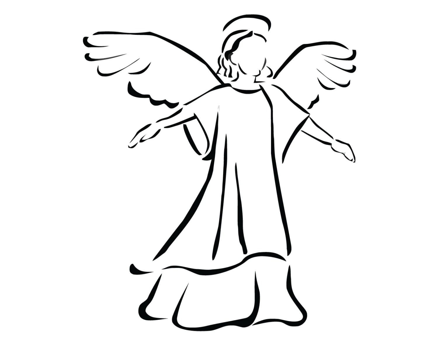 Angel Decal Angel Sticker Angel Praying Decal Christian