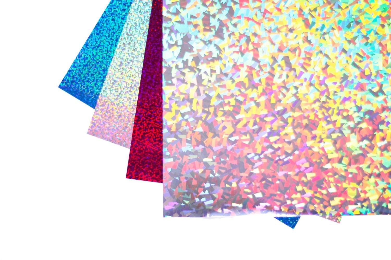 10 Sheets 12 X 20 Iron On Holographi Vinyl Heat