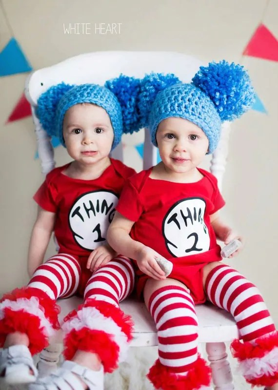 adorable thing 1 and thing 2 costume for twins