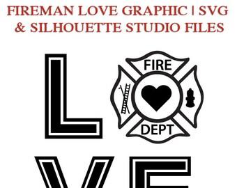Download Fireman svg   Etsy