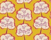 Utopia by Frances Newcombe for Art Gallery Fabrics - Aglow Sapling Mango - Yardage (1/4 Yard Minimum)