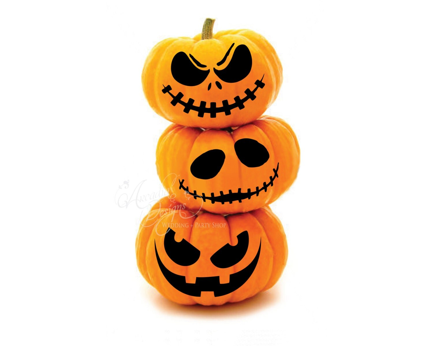 Printable Halloween Pumpkin Carving Pattern Stencil Scary