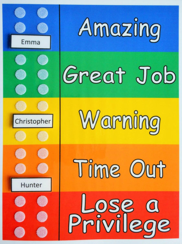Group Behavior Tracker Chart For Multiple Kids You Provide The