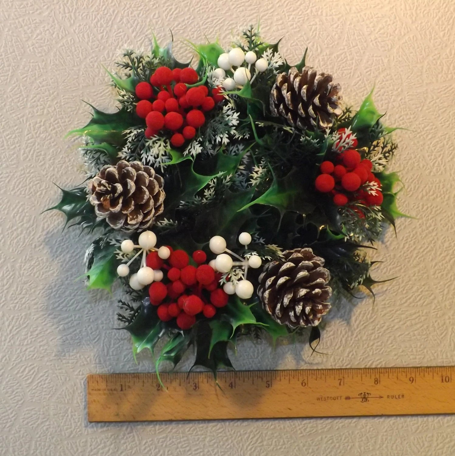 Vintage Christmas Wreath Candle Ring With By Tackyuglyawesome