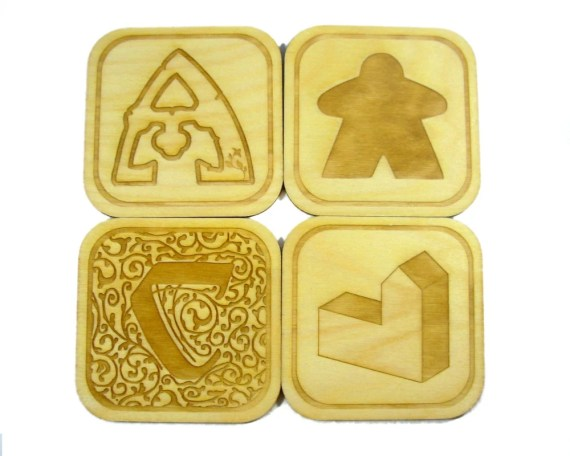Catan and Agricola Board Game Coaster Set