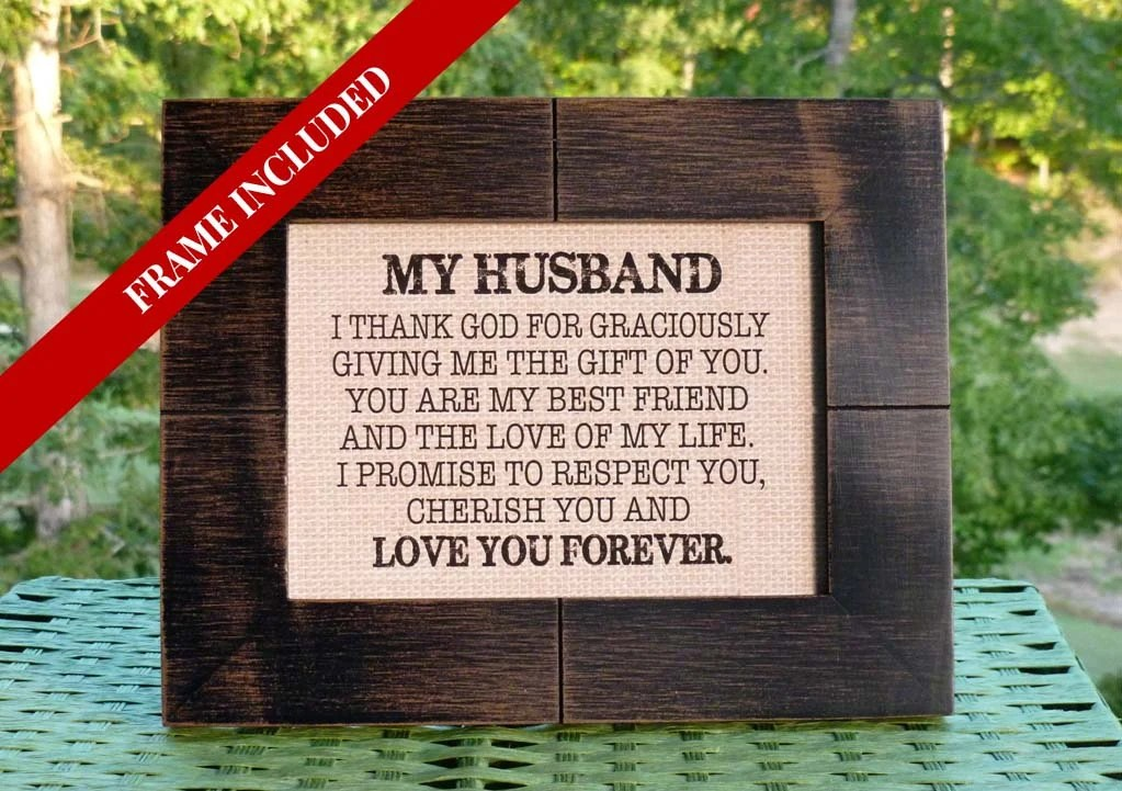 Wedding Gift From Bride To Groom Husband Valentine's
