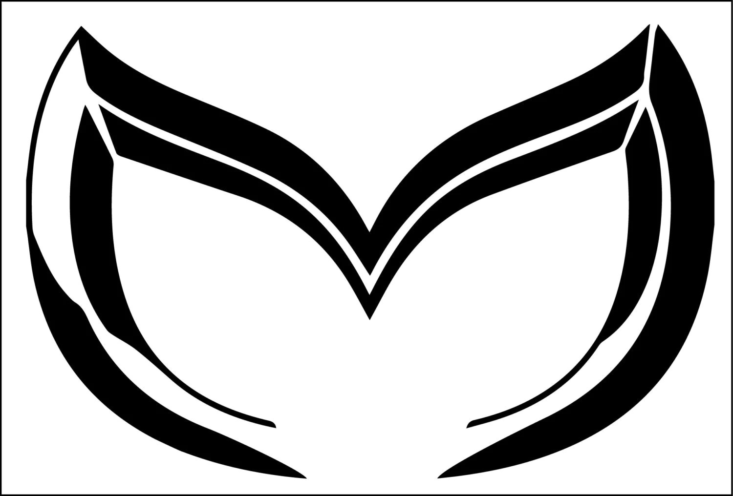 Mazda Evil M Outline Sticker Decal 6 Wide X 4