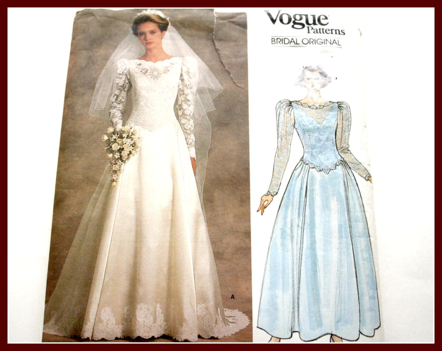 LACE Overlay Bridal Gown Sewing Pattern Wedding Dress Uncut