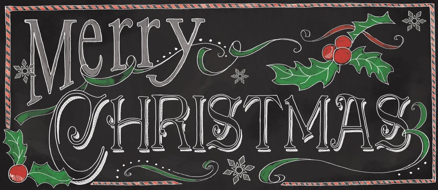 Christmas SignMerry Christmas Chalkboard Sign Holiday