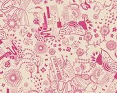 Utopia by Frances Newcombe for Art Gallery Fabrics - Urban Sprawl Magenta - Yardage (1/4 Yard Minimum)