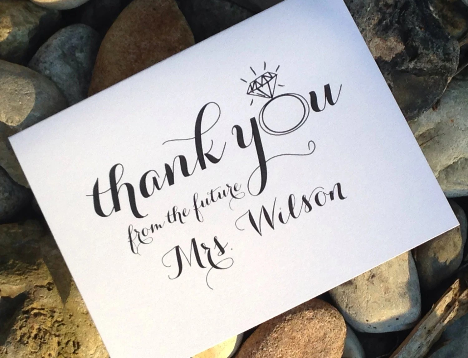 Wedding Bridal Shower Thank You Cards Thank You From The