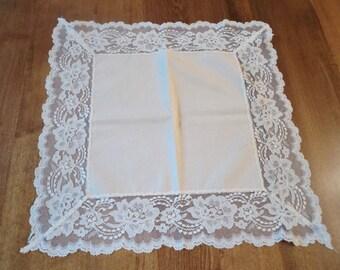 Vintage Handkerchief Souvenir Of Nice World War One Sweetheart