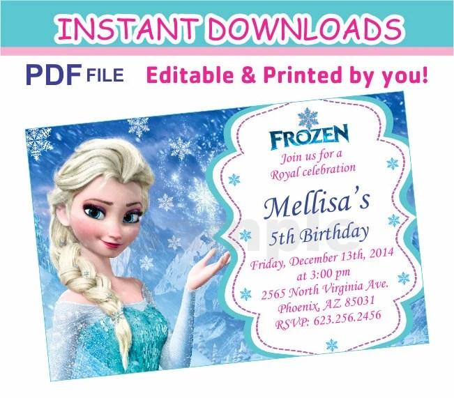 Printable Elsa Invitations