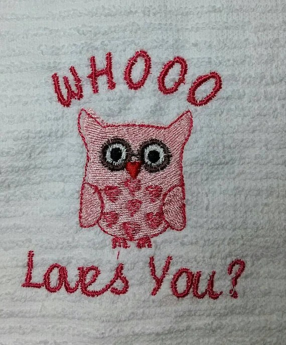 Valentine Day Kitchen Towels Bar Embroidery Dish