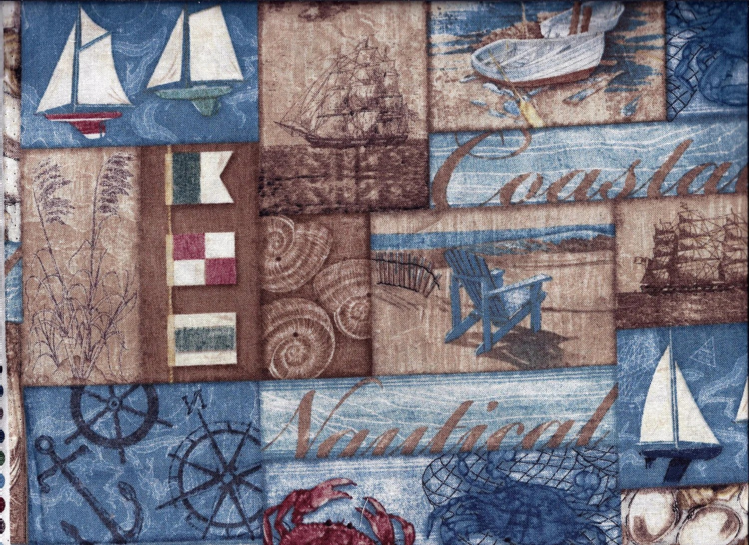 Coastal Blue Nautical Sailboat Curtain Valance