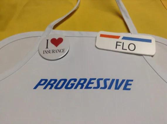 Flo I Love Insurance Pin