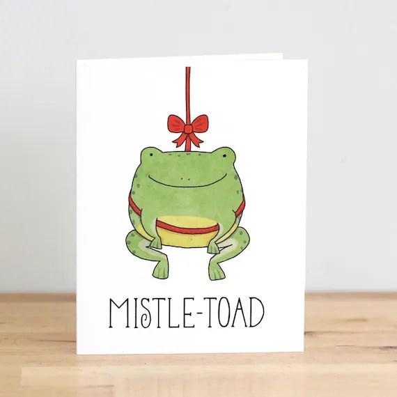 Mistle Toad Mistletoe Toad Frog Christmas XMas Pun