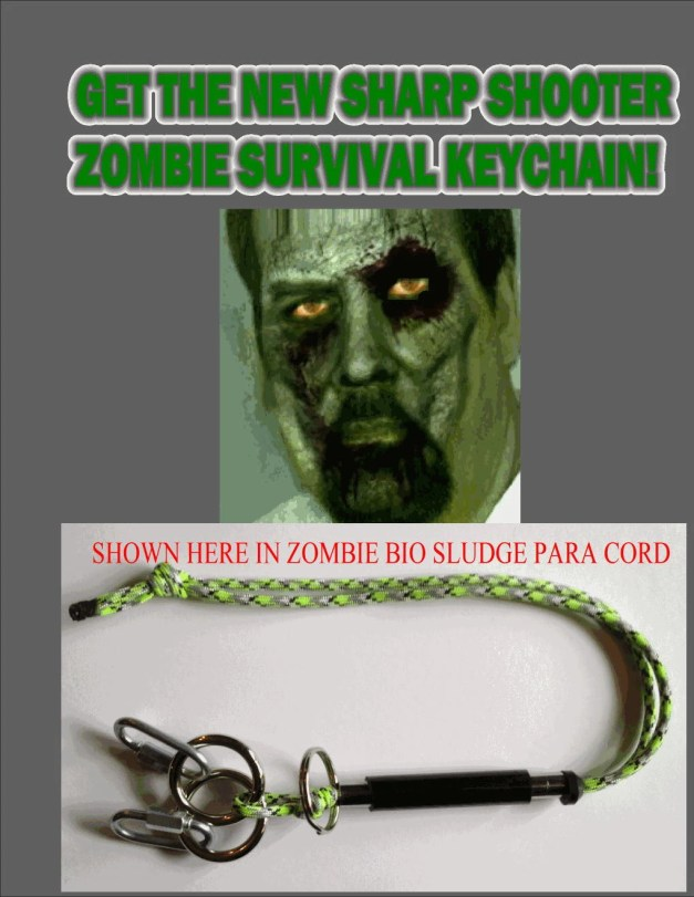 Sharp Shooter Zombie Survival Keychain With Free Instruction DVD