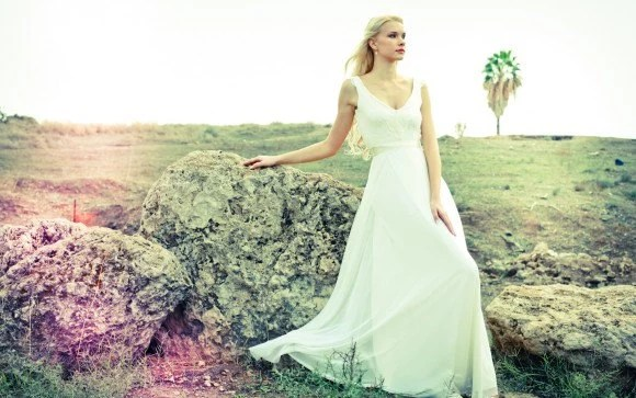 Kaylee Romantic Wedding Dress With Lace Top And Chiffon