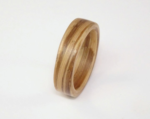 Zebrano Bent Wood Ring - ...