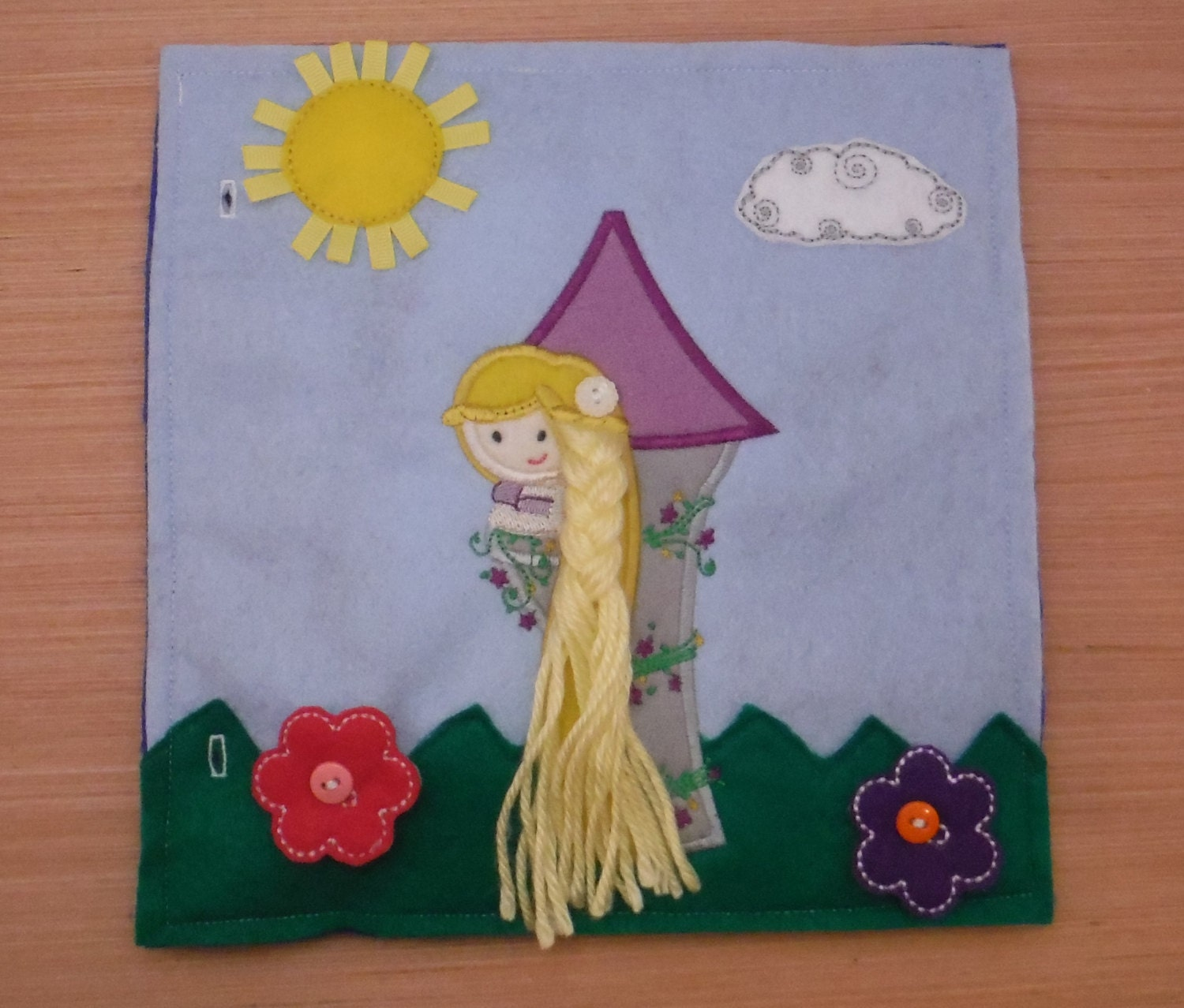 Rapunzel Braiding And Buttoning Quiet Book Page Build A