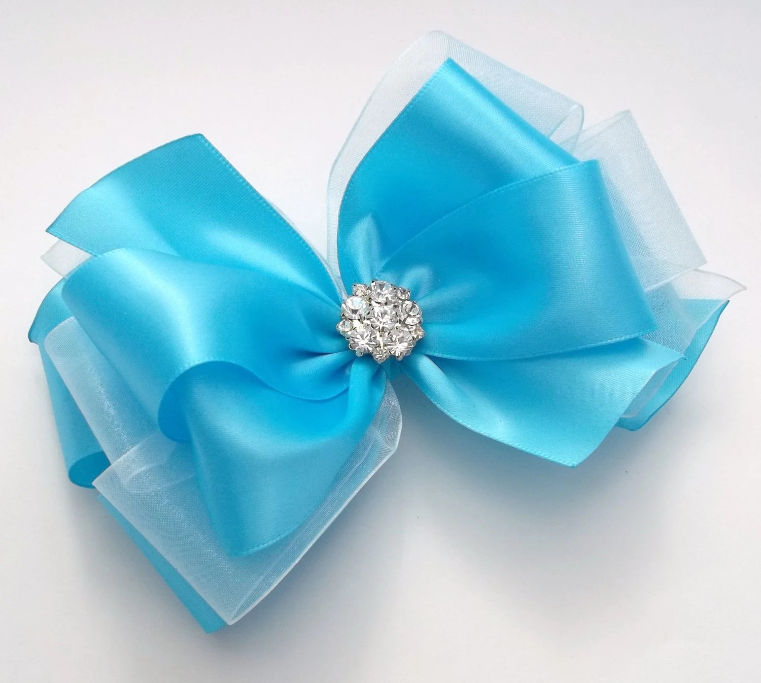 Blue Satin Boutique Hair Bows Hair Accessories Hair Clips