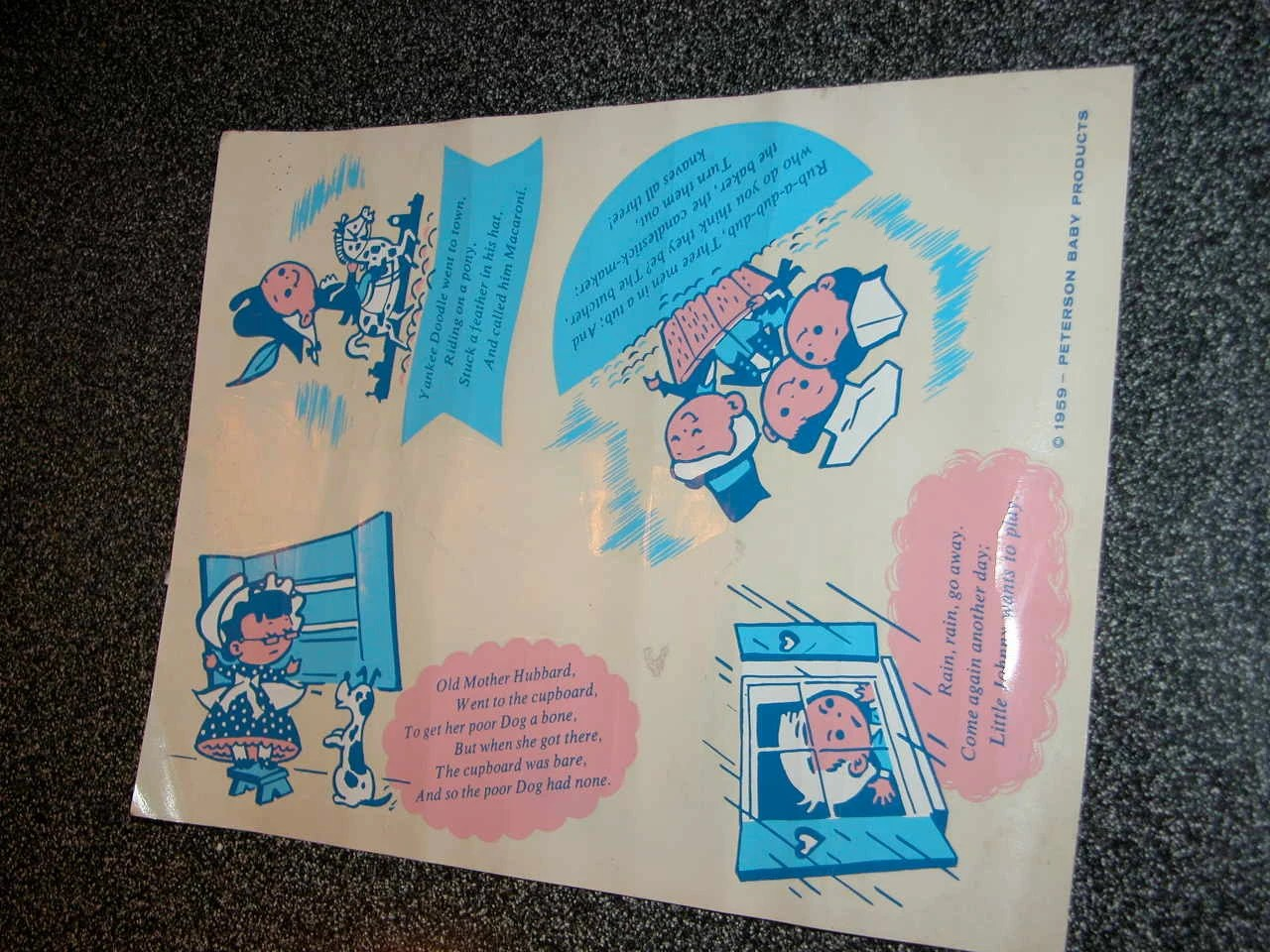 Cool Vintage Peterson Baby Products Decal Sheet