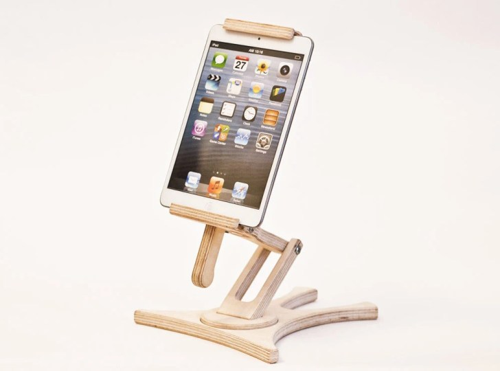 Tablet Holder Ipad Stand Kitchen Wood