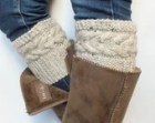 Tweed Boot Cuffs Choose Your Size And Color, Hand Knit Boot Toppers, Leg Warmers Wool Acrylic Blend Yarn For Women Or Teens