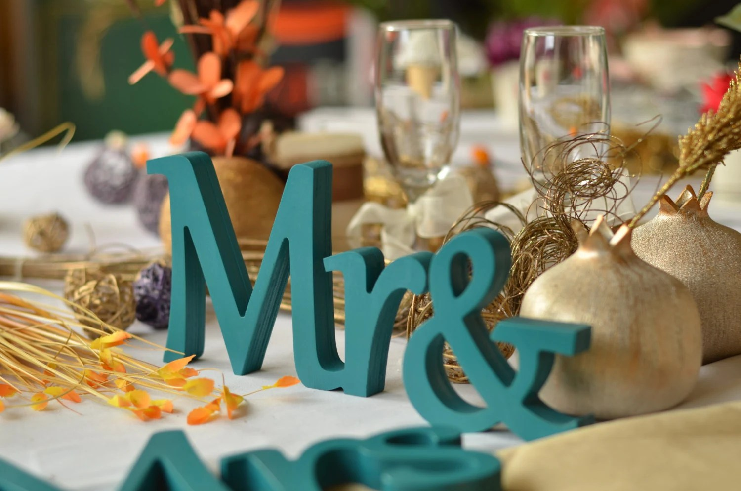 Sweetheart Table Mr. And. Mrs... Sign Set. Wedding By Svetulka