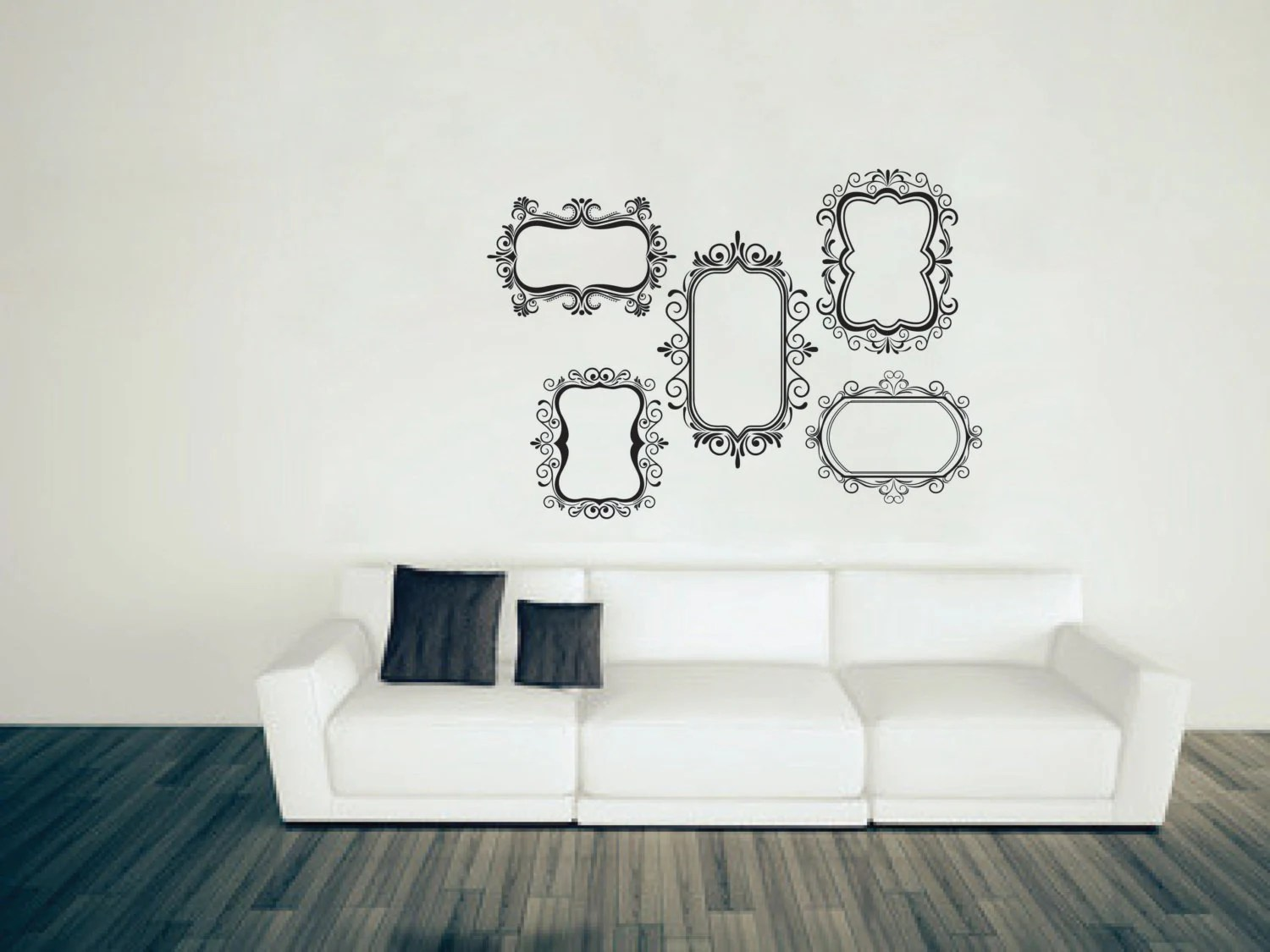Wall Vinyl Picture Frames Decal Picture Frames By