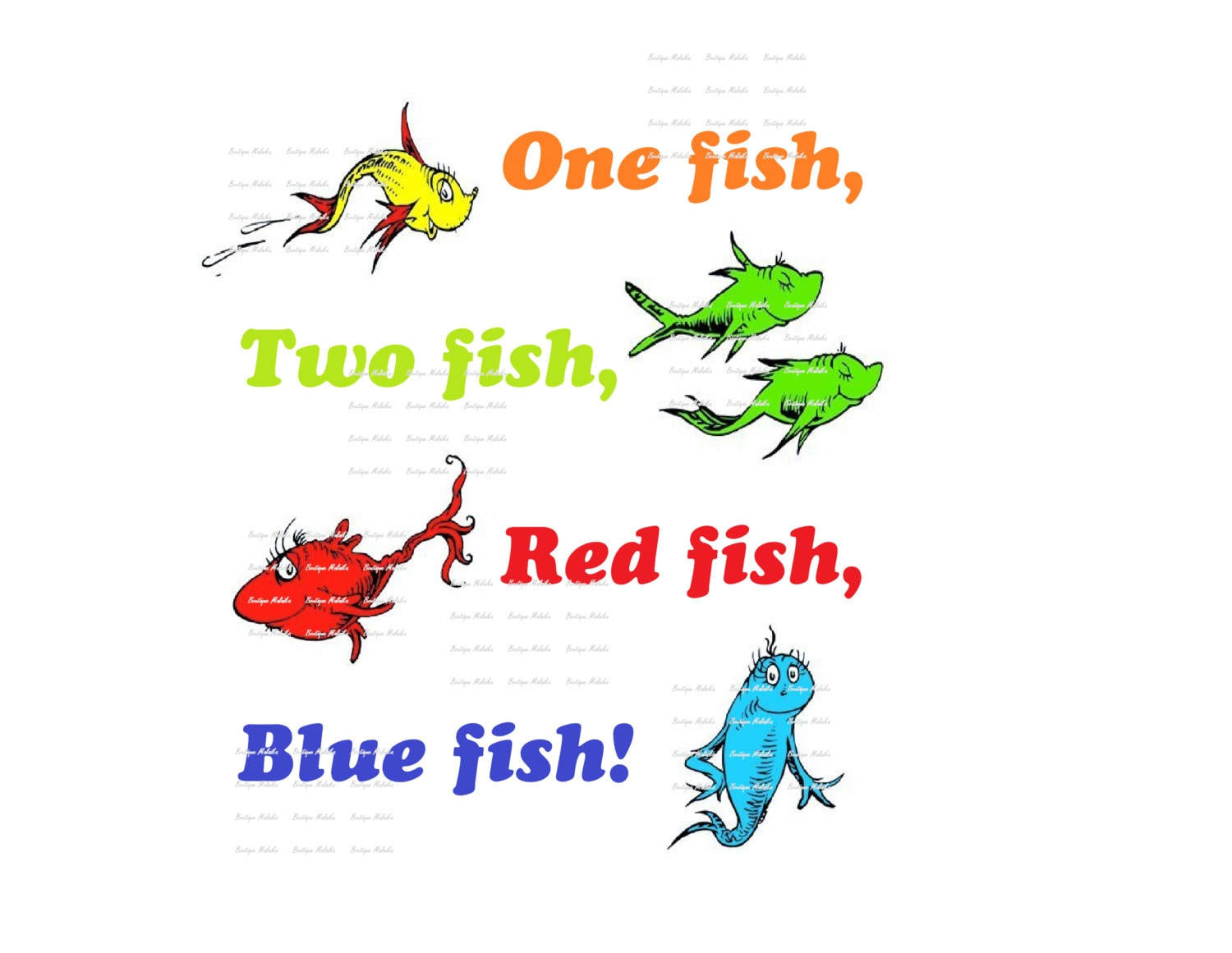 One Fish Two Fish Red Fish Blue Fish High By Boutiquemalaika